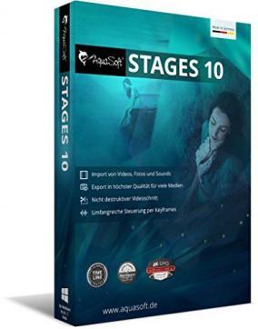【Windows】アニメーション作成ソフト「AquaSoft Stages 10」を無料で製品版にする方法