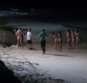 全裸水泳した6人がタイで逮捕される