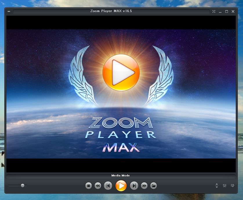 Zoom Player 16 MAXの起動画面